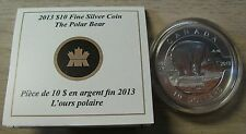 2013 Proof $10 O Canada - Polar Bear .9999 silver COIN & COA ONLY