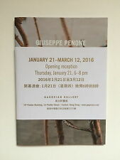 GIUSEPPE PENONE. Exhibition catalogue, Gagosian gallery, 2016