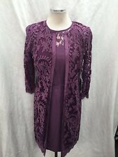 ADRIANNA PAPELL DRESS &JACKET/NEW WITH TAG/SIZE 14//RETAIL$180/LACE DRESS