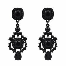 ANTHROPOLOGIE BEAUTIFUL BLACK DROP DANGLE EARRINGS - NEW