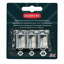 Derwent Spare Sharpeners for Twin Hole Sharpener ( Triple Pack )