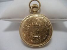 Outstanding 14K Gold Case American Waltham Pocket Watch Royal Movement 1883