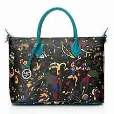 (New) Piero Guidi Magic Circus Coated Canvas Barchetta Collection Satchel