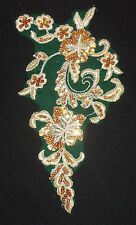 green gold sequin butterfly white bridal wedding embroidery lace applique motif