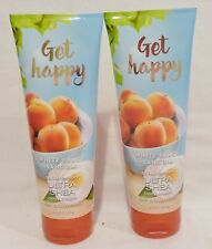 2 Get Happy White Peach Sangria Ultra Shea Body Cream Bath & Body Works 8 Oz