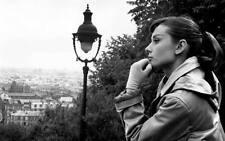 """Audrey Hepburn Lovely B&W A2 CANVAS PRINT Art 18""""X 24"""""""