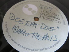 "ADAM AND THE ANTS Dog Eat Dog 7"" ONE SIDED PORTLAND RECORDING STUDIOS ACETATE"