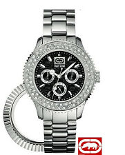 MARC ECKO LADIE'S SILVER INTERCHANGEABLE RING WATCH E15506M2