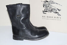 New sz 6 US / 36 Eur / 3 UK Burberry ALBION Black Leather Biker Boots Shoes
