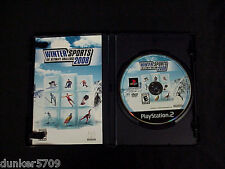 WINTER SPORTS 2008 PLAYSTATION 2 PS2 GAME CD ROM 2007 WITH INSTRUCTION BOOKLET