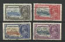 Trinidad & Tobago, 1935 Set of Silver Jubilee Issues, Good used [238]
