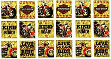 3 Sheets HARLEY DAVIDSON Motorcycle Scrapbook Stickers