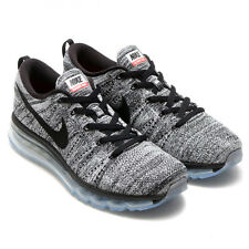 2016 Nike Flyknit Max Running Shoes SZ 9.5 Black White Oreo 620469-105