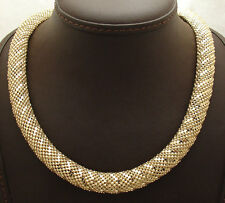 """20"""" Technibond Bold Domed Snake Skin Chain Necklace 14K Yellow Gold Clad Silver"""