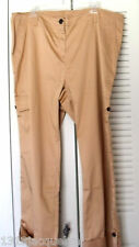 LIZ CLAIBORNE WOMANS ROLL TAB CROP CAMEL CARGO PANTS-SIZE 18W
