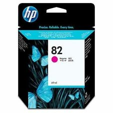 GENUINE HP HEWLETT PACKARD HP 82 MAGENTA INK CARTRIDGE C4912A 69ML IN DATE