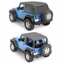 Smittybilt 2-in-1 Bowless Combo Soft Top 2007-2017 2dr Jeep Wrangler JK 9073235