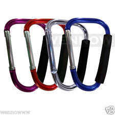 4 Pcs Large Carabiner Clip Hook Ideal for shopping bags