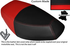 RED & BLACK CUSTOM FITS PULSE SCOUT 50 BOATIAN DUAL LEATHER SEAT COVER