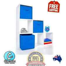 6 Cube Storage Unit Shelf Bookcase White - 77cm (W) x 77cm (H) x 24cm (D)- New -