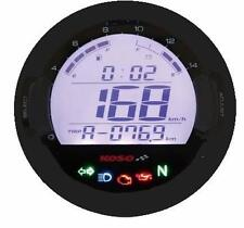Koso DL-03S Digital Motorcycle Speedometer Tachometer Warning Lights Dash Black