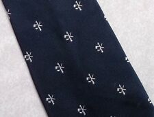GOLF ONEHOLER HOLE IN ONE TIE ONE HOLER VINTAGE 1970s NAVY BLUE WHITE GOLFING