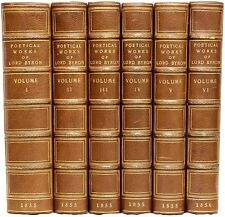 Poetical Works of Lord Byron - 6 vols. - EXTRA ILLUSTRATED LEATHER BOUND!
