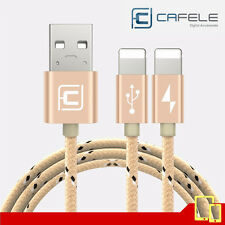 CAFELE - Cable Nylon USB 2 in 1 - Apple Iphone / Ipad - Fast Charging cable Gold