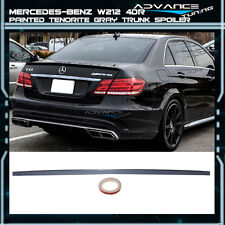 10-15 Benz E-Class W212 4Dr Trunk Spoiler OEM Painted Match # 755 Tenorite Gray