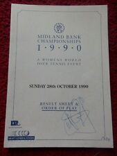 TENNIS RESULT SHEET AND ORDER OF PLAY + STEFFI GRAF AUTOGRAPH 1991