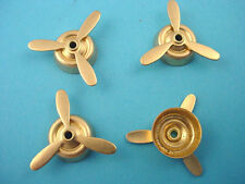 4 brass  mounted propellers 22mm aviation airplane stampings spins