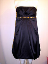 Gorgeous Black Strapless Beaded Puffball Dress from Morgan - Size 8 - Worn Once