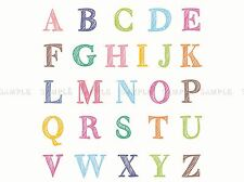ABC lettres alphabet coloré enfants photo Art Imprimé Poster bmp1558a