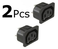 2 Schurter IEC320 Female Power Entry Socket Connector 10A Snap-In Panel Mount.