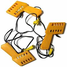 3 TYCO VINTAGE OEM HO Slot Car Track YELLOW CONTROLLERS USED UNTESTED Well Built