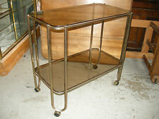 DESSERTE A ROULETTE ANCIENNE DESIGN EN LAITON / VINTAGE TROLLEY BAR IN BRASS