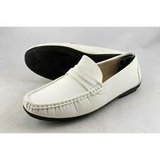 Stacy Adams Chaz Men US 8.5 White Moc Loafer Blemish  12003