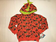 NWT $44 PAUL FRANK Dino Mite The collection hoodie jacket BOY size 6 orange