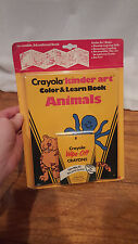 Vintage Crayola Crayons by Binney & Smith Co. Kinder Art Color Learn Book NOS