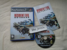 Resident Evil Outbreak PS2 (COMPLETE) Sony PlayStation 2 black label