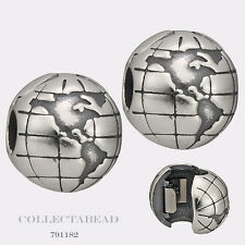 Authentic Pandora Sterling Silver Globe Clips (2)  791182