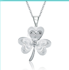 Fashion Silver Plated Korea Clovers Flowers Chain Ladies Pageant Necklace US