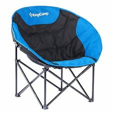 KingCamp Moon Leisure Home Outdoor Camping Steel Folding Chair with Carry Bag