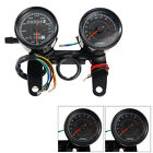 Universal Motorcycle Odometer & Tachometer Speedometer Gauge With Black Bracket