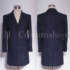 Doctor Who 12th Dr. Dark Blue Frock Coat  Custom Made