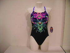 SPEEDO COSTUME INTERO DONNA PISCINA 808361A135 ENDURANCE NAVY PURPLE BLU 48