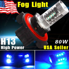 Ultra Blue High Power 80W H13 9008 1920LMS LED Fog Driving DRL Hi/Lo Beam Light