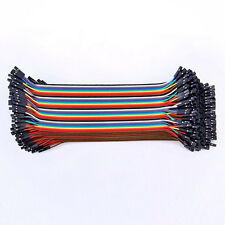 Hot Sale ! 40pcs 20cm Male to Female Color Ribbon Line Cable Jump Wire Jumper