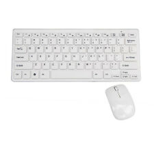 2.4G Multimediale Tastiera+Bluetooth Mice Ottico Mouse Senza Fili Set Bianco 1
