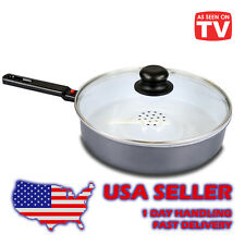 Dry Cooker, non-stick, Ceramic-coated,  with lid, wroks on induction stoves 10""